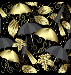 weather 3d seamless pattern autumn abstract gold vector image