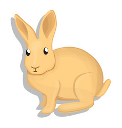 wild rabbit icon cartoon style vector image