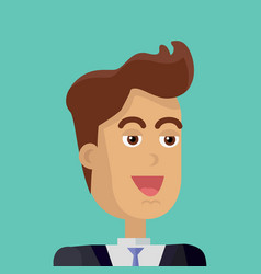 young businessman avatar vector image