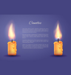 candles decoration poster vector image vector image