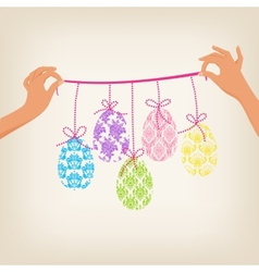 Cute Easter Garland vector image vector image