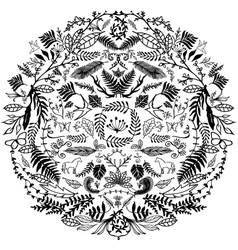 Decorative Floral Circle vector image