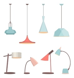 Lamps sign set for interior Electricity floor vector image vector image
