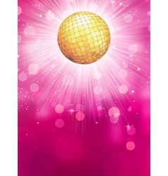 Abstract golden with disco ball EPS 10 vector image vector image