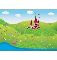 dreamlike landscape vector image