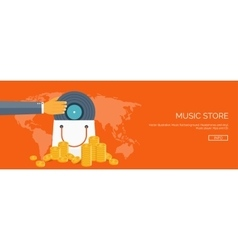 Flat background Music vector image