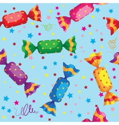 pattern cute sweets candy vector image vector image