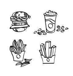 sketch fastfood vector image vector image
