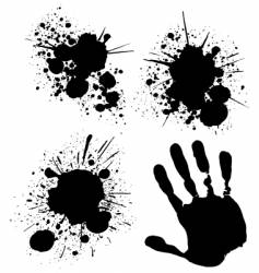 splats and hand vector image