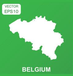 belgium map icon business concept belgium vector image