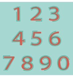 Hand drawn numbers vector image vector image
