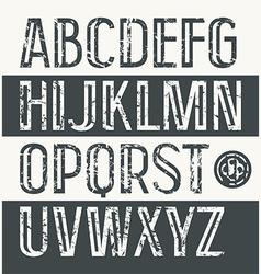 Sans serif font in retro style vector