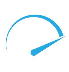 speedometer icon on white background speedometer vector image vector image