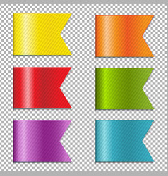 web ribbons collection vector image vector image