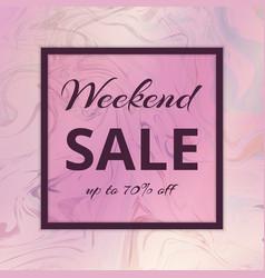 Banner weekend sales vector
