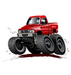 Cartoon Monster Truck one-click repaint vector image
