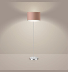 3d realistic render illuminated lamp vector image