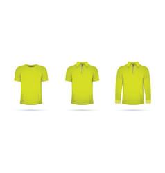A lime green t-shirt set vector