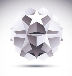 Abstract geometric 3d object modern digital vector