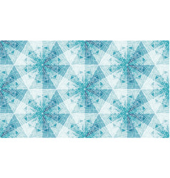 abstract snowflakes seamless pattern vector image