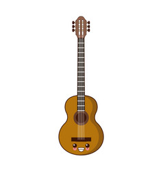 acoustic guitar music instrument kawaii cute vector image