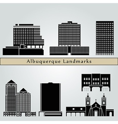 Albuquerque landmarks and monuments vector image