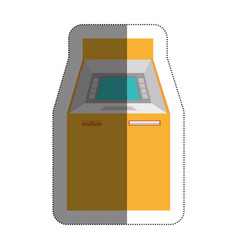 atm machine isolated icon vector image