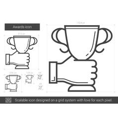 Awards line icon vector image