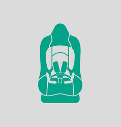 Baby car seat icon vector