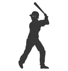 baseball player icon vector image
