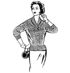 Beautiful fashionable girl vector image vector image