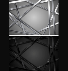 black and grey silver metallic backgrounds vector image