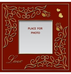 Blank photo frame postcard or greetings card vector