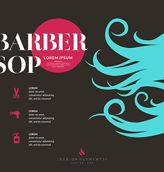 bright poster for barber shop vector image