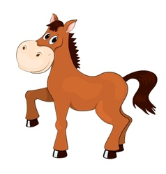 Brown horse vector image vector image