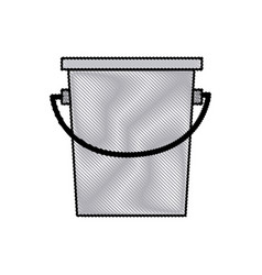 bucket fishing equipment object drawing vector image
