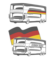 bus with german flag vector image