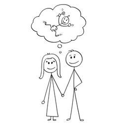cartoon heterosexual couple man and woman vector image