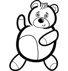 Cartoon Teddy Bear for Coloring vector image