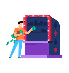casino entertainment integration cartoon flat vector image