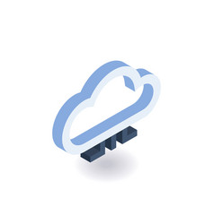 Cloud technologies isometric icon vector