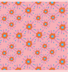 colorful floral seamless background pattern vector image
