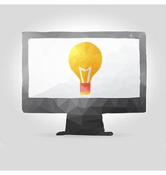 computer screen in polygon design vector image