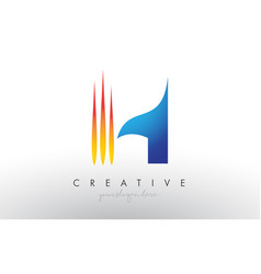 Creative corporate h letter logo icon design with vector