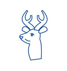 deer line icon concept deer vector image