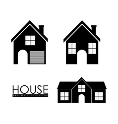 Family House Home icon with door and windows vector