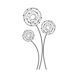 figure rounds flowers icon vector image