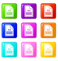 File xls icons 9 set vector