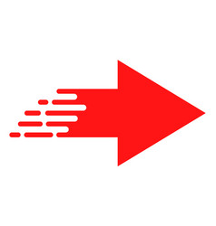 Flat rush move right icon vector