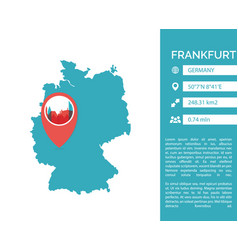 Frankfurt map infographic vector